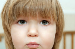 Little girl with expressive eyes Stock Photography