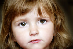 Little Girl Face Royalty Free Stock Image