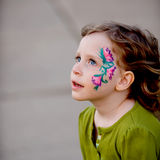 Little Girl with Face Paint Royalty Free Stock Photo