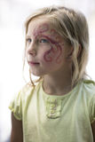 Little girl with face painting Royalty Free Stock Images