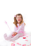 Little Girl in a Fairy Costume stock image