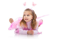 Little girl in fairy costume Royalty Free Stock Photo