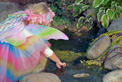 Little girl in fairy costume Stock Image