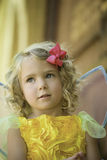 Little Girl in Fairy Costume Looking Up Royalty Free Stock Images