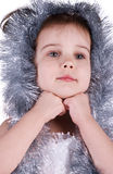 Little girl in fairy costume on white Stock Photo