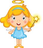 A little girl fairy stock illustration