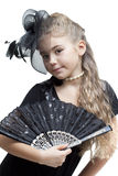 Little girl with a fan Royalty Free Stock Photos