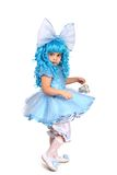 Little girl in  fancy dress. On  white background Royalty Free Stock Photos