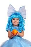 Little girl in  fancy dress. Stock Images