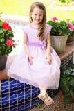 Little girl in fancy dress Stock Image
