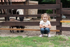 Little girl on the farm Royalty Free Stock Photos