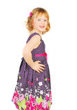 Little girl in fashion dress. Stock Photo