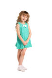Little girl  in fashion  dress Royalty Free Stock Images