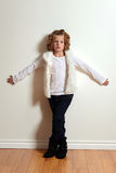 Little girl fashion model Royalty Free Stock Photo