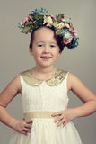 Little girl fashion model Royalty Free Stock Image