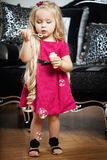 Little girl in a fashionable luxury interior Royalty Free Stock Photos