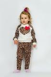 Little girl fashionista Stock Photos