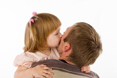 Little girl and the father Royalty Free Stock Photography