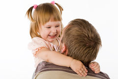Little girl and the father Royalty Free Stock Images