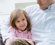 Little girl with father Stock Photos