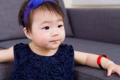 Little girl feel curiosity Royalty Free Stock Photography