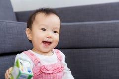 Little girl feel excited Stock Photo