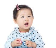 Little girl feel so happy Stock Photo