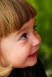 Little girl feel shy Royalty Free Stock Photo