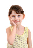 Little Girl feel Toothache Royalty Free Stock Photos