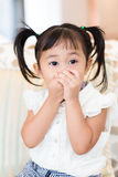 Little girl feeling excited Stock Images