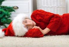 Little girl fell asleep. Royalty Free Stock Photo