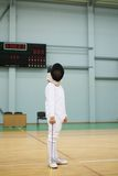 Little girl fencer Stock Image