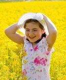 Little Girl in a Field Royalty Free Stock Photography