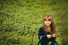 Little girl in the field Royalty Free Stock Photography