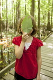 Little girl on field trip Stock Images