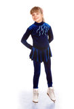 Little girl figure skating. Royalty Free Stock Images
