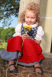 Little girl with fishing Royalty Free Stock Images