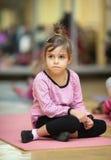 Little girl, fitness Stock Photos