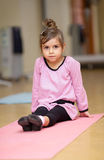 Little girl, fitness Royalty Free Stock Image