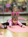 Little girl, fitness Stock Image