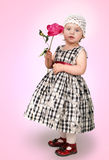 Little girl with flower Royalty Free Stock Photos