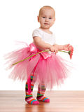 Little girl with a flower Stock Photography