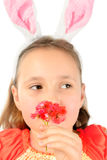Little girl with a flower Royalty Free Stock Images