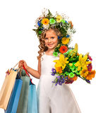 Little girl with flower hairstyle Stock Photography