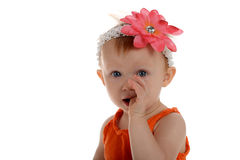 Little Girl with flower on her head Stock Photography