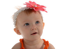 Little Girl with flower on her head Royalty Free Stock Photo
