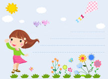 Little girl and flower Royalty Free Stock Photos