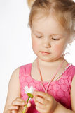 Little girl with flower Royalty Free Stock Photo