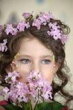 Portrait of gray-eyed girl Royalty Free Stock Photo