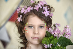 Portrait of gray-eyed girl Royalty Free Stock Photos